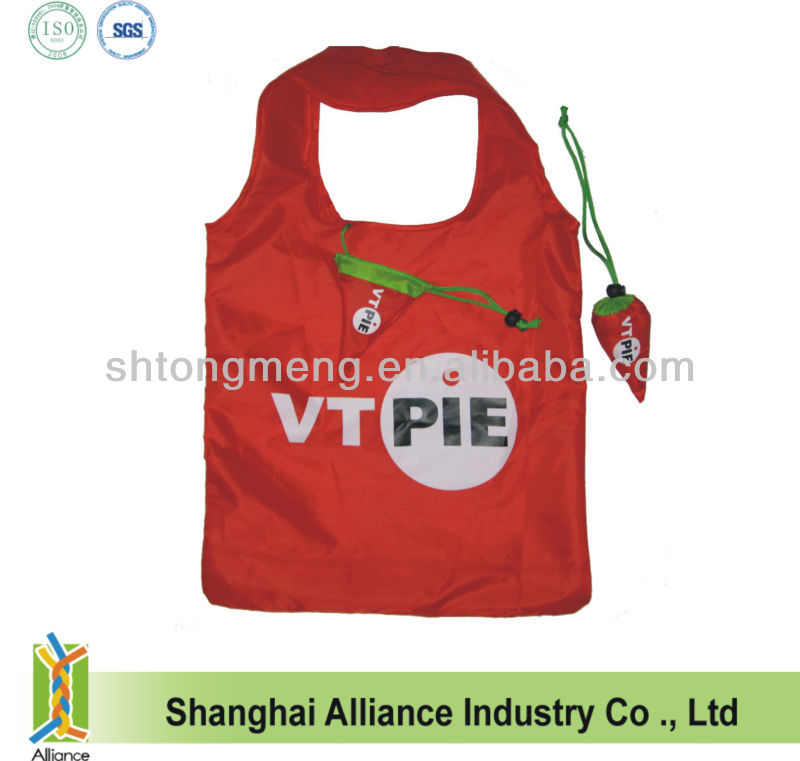 Pepper Foldable Shopping Bag With Heat Transfer Printing Logo