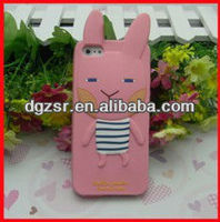 2013 rabbit design silicone mobile phone cover