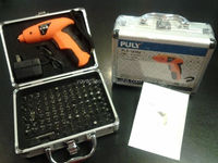 NEW 4.8v PULY Cordless Screwdriver Tool Set w/ 100 Bits in Sturdy Aluminum Case