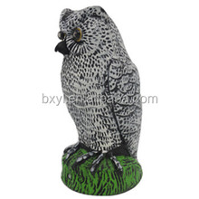 Garden Decoration Eyes Light Motion Sensor Owl Bird Repellent