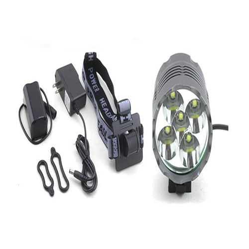 Warning Super Bright LED Bike Light with 5 CREE Xm-L T6