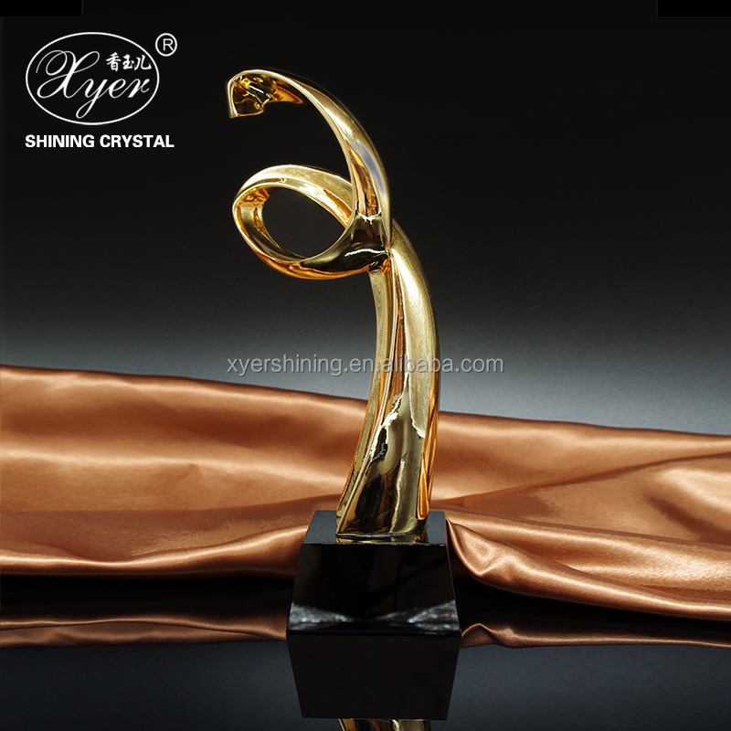 Gold Plating resin medal trophy cup awards for dance souvenir