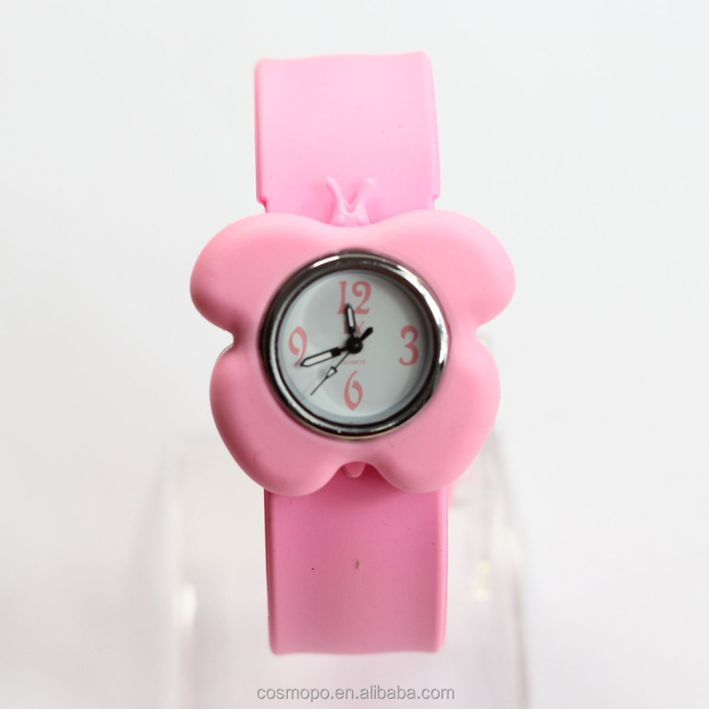 cheap silicone slap watches fancy pig pattern wrist watches