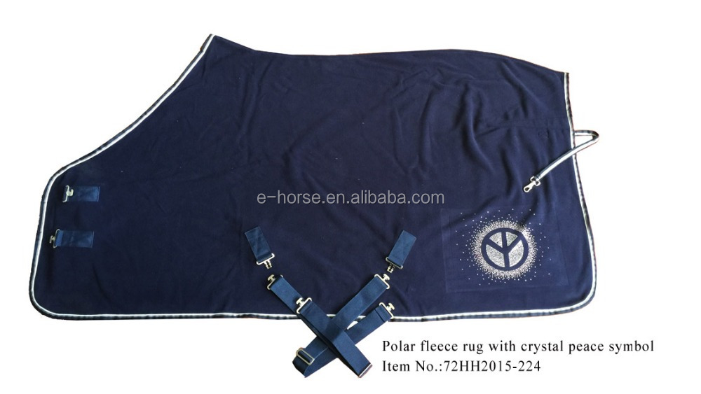 Classic fleece horse rug with crystal peace symbol