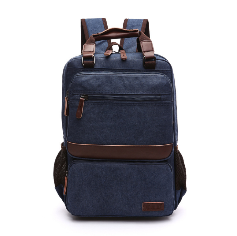 Wholesale vintage custom canvas Backpack manufacturer Plush backpack women for School Laptop backpack Bag