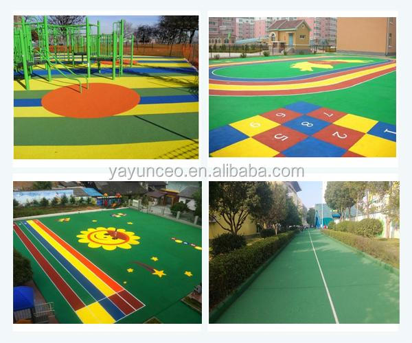 EPDM fixed color rubber scarp for outdoor sport court flooring
