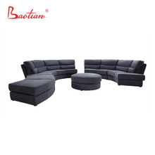 Living Room Furniture Big Corner Fabric Sofa Luxury Round Couch