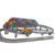 Electric train mini shuttle /outdoor roller coaster double ring/amusement park ride