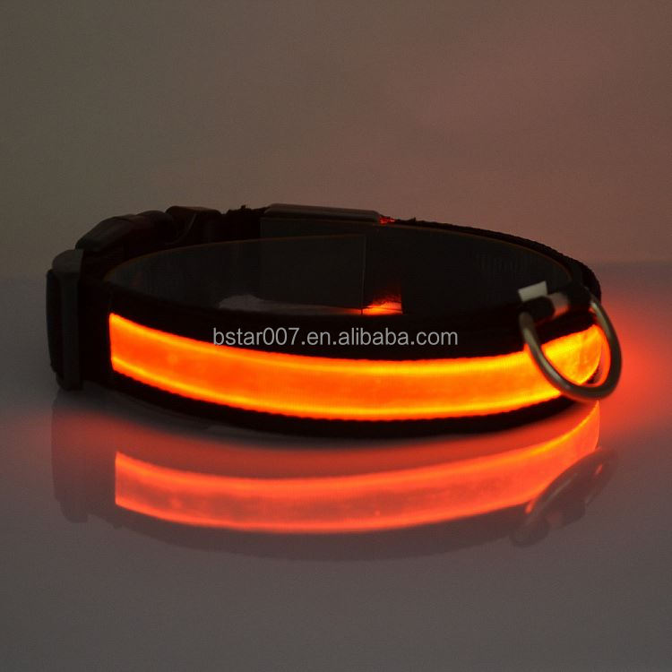 New design Colorful Adjustable led dog collar-makes your dog visible safe & seen