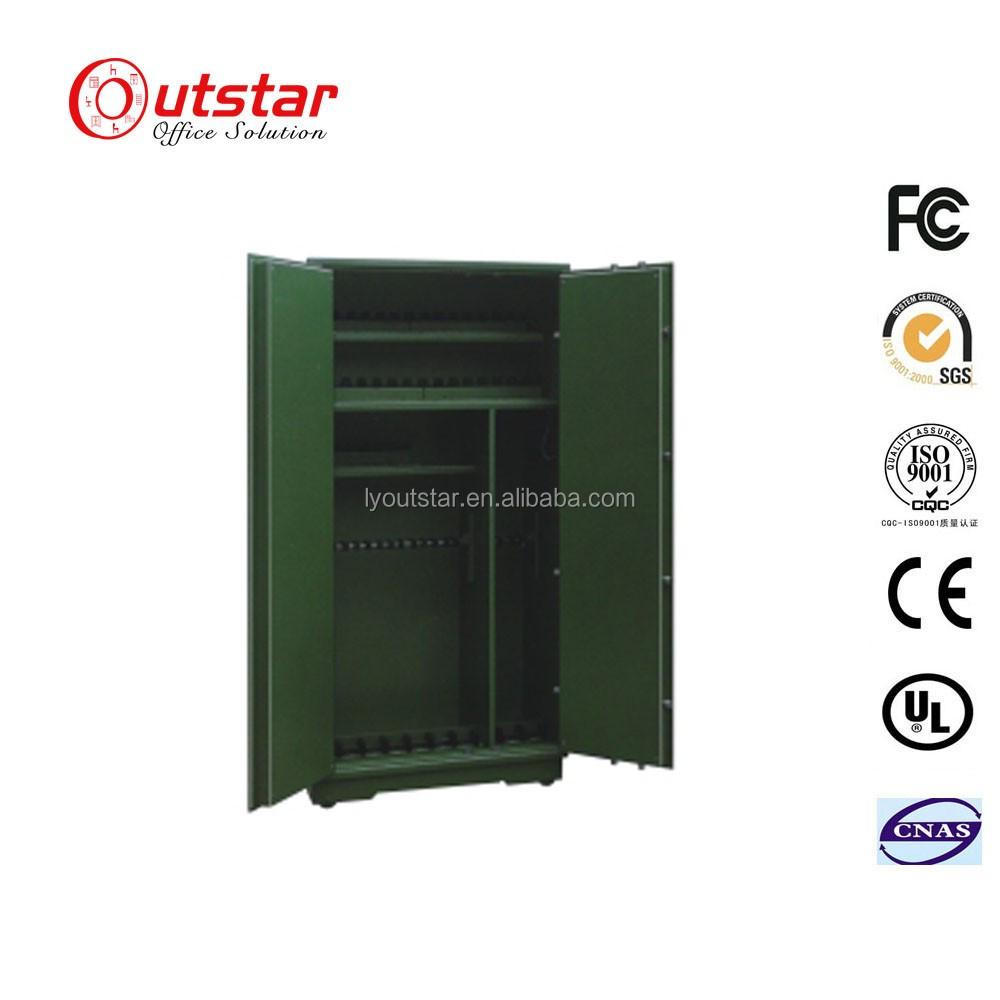 Movable safety lock fireproof metal gun cabinets storage weapon safe box