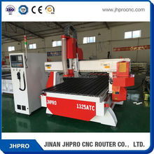 JHPRO wood design cutting machine with liner auto matic tool changer 1300*2500*300mm