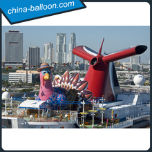 customized inflatable chuckle chicken/ giant inflatable turkey/ promotional chicken model