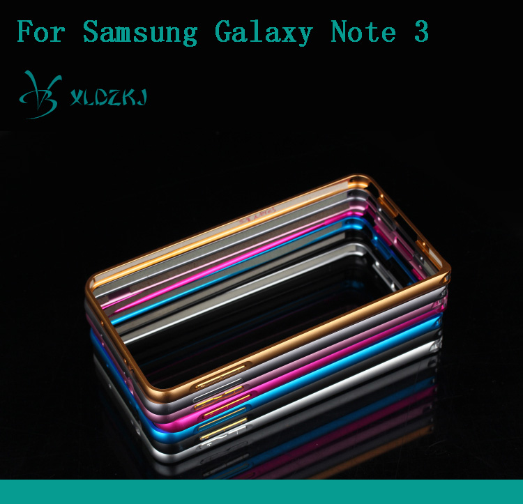 No Screws Ultrathin Aluminum Bumper Case For Samsung Galaxy Note 3 Metal Frame Cell Phone Cover For Samsung