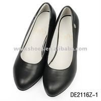 latest 2012 name brand women dress leather sole shoes with comfortable style