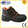 NMSAFETY Cow split leather PU/Rubber sole CE safety shoes steel toe safety shoes