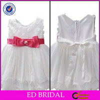 A-line Organza With Red Sash Kids Princess Wedding Dresses Pictures