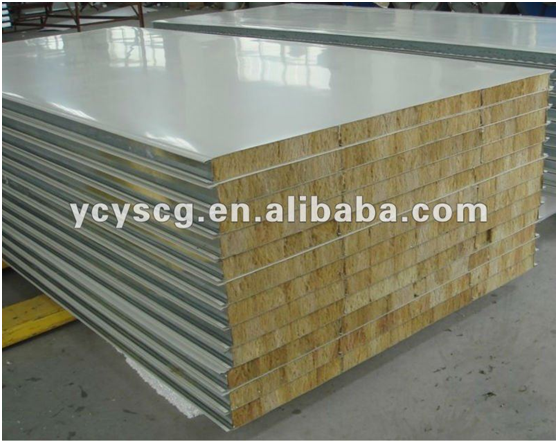 Heat Insulated Rockwool Sandwich Panels For Fire Rated