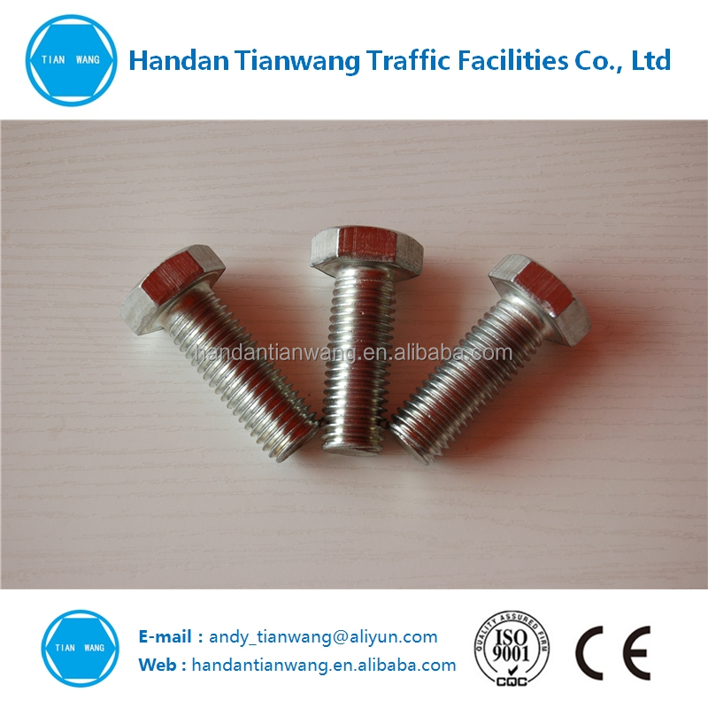 Zinc plated different hex types nuts bolts and washers