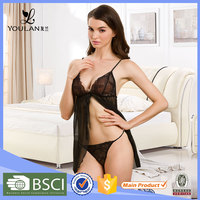 China Factory Custom Made Female Transparent Sexy Night Wears