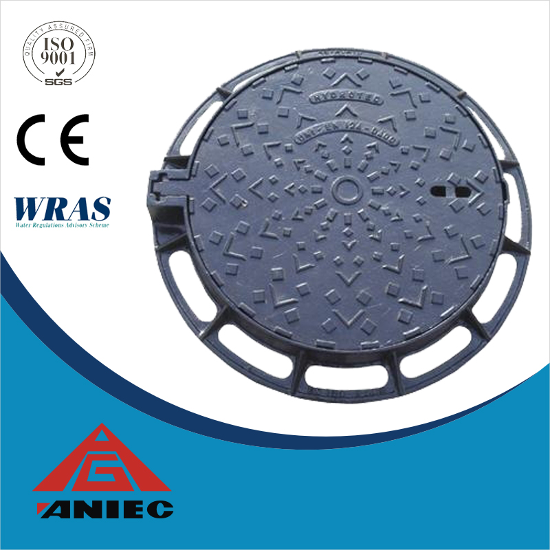 D400 EN124 Ductile Iron Manhole Cover foundry tops OEM desiign cast iron cover