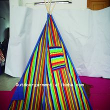 TP14 Zhejiang Tulip 100% cotton canvas fabric wholesale play indian tent kids teepee