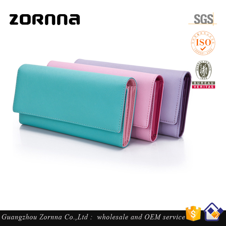 Wholesale Long 3 Fold Multi Card Cell Phone PU Leather Rfid Women Wallets