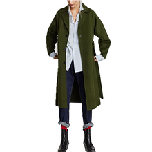 Wool blend classic army green women winter jacket and coat