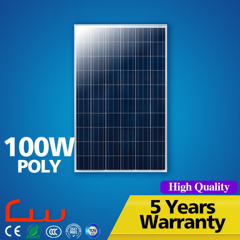 Polycrystalline 100 Watt solar panel manufacturers in china