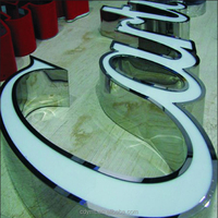 10 years experience China factory dropship custom 3d colorations alphabet letters stainless steel sign outdoor