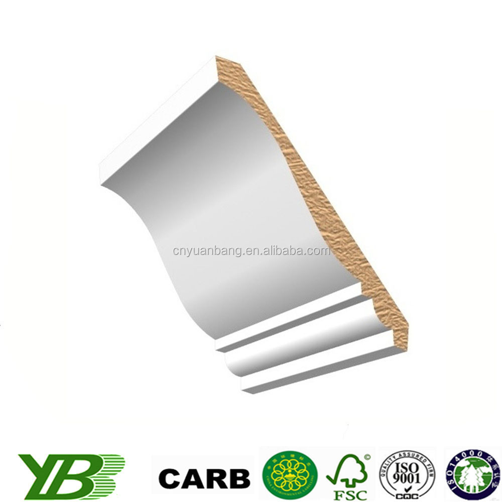 Gesso coated wood molding skirting baseboard