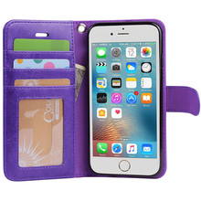 Leather Wallet Phone Case for iPhone 7, Premium Leather Cell Phone Case for iPhone 7