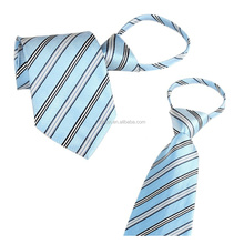 Polyester Twill Tie Neckwear With Elastic Zipper For Promotion