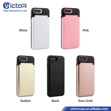 Hot Selling Mirror and Card Slot Function Mobile Case for iPhone 8 Plus Cover