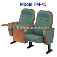 folding fabric cover chair auditorium with table