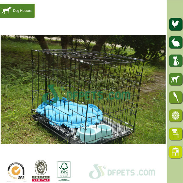 Folding metal wire dog cage pet cage for sale