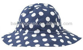white dots cotton UPF 50+ uv protection babies sun hat