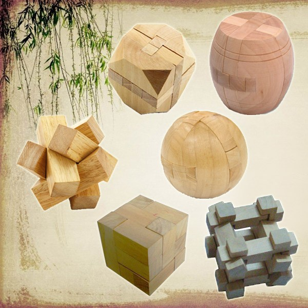 Chinese Wooden Mini 3D Puzzle