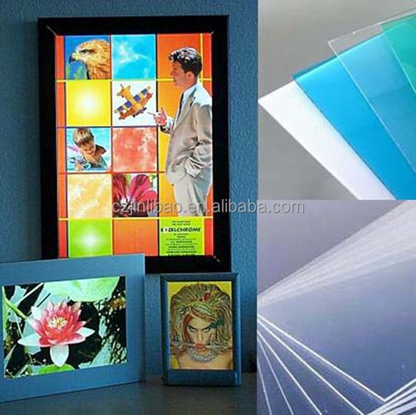 Transparent pet plastic board instead of PMMA sheets - Certified manufacturers by SGS