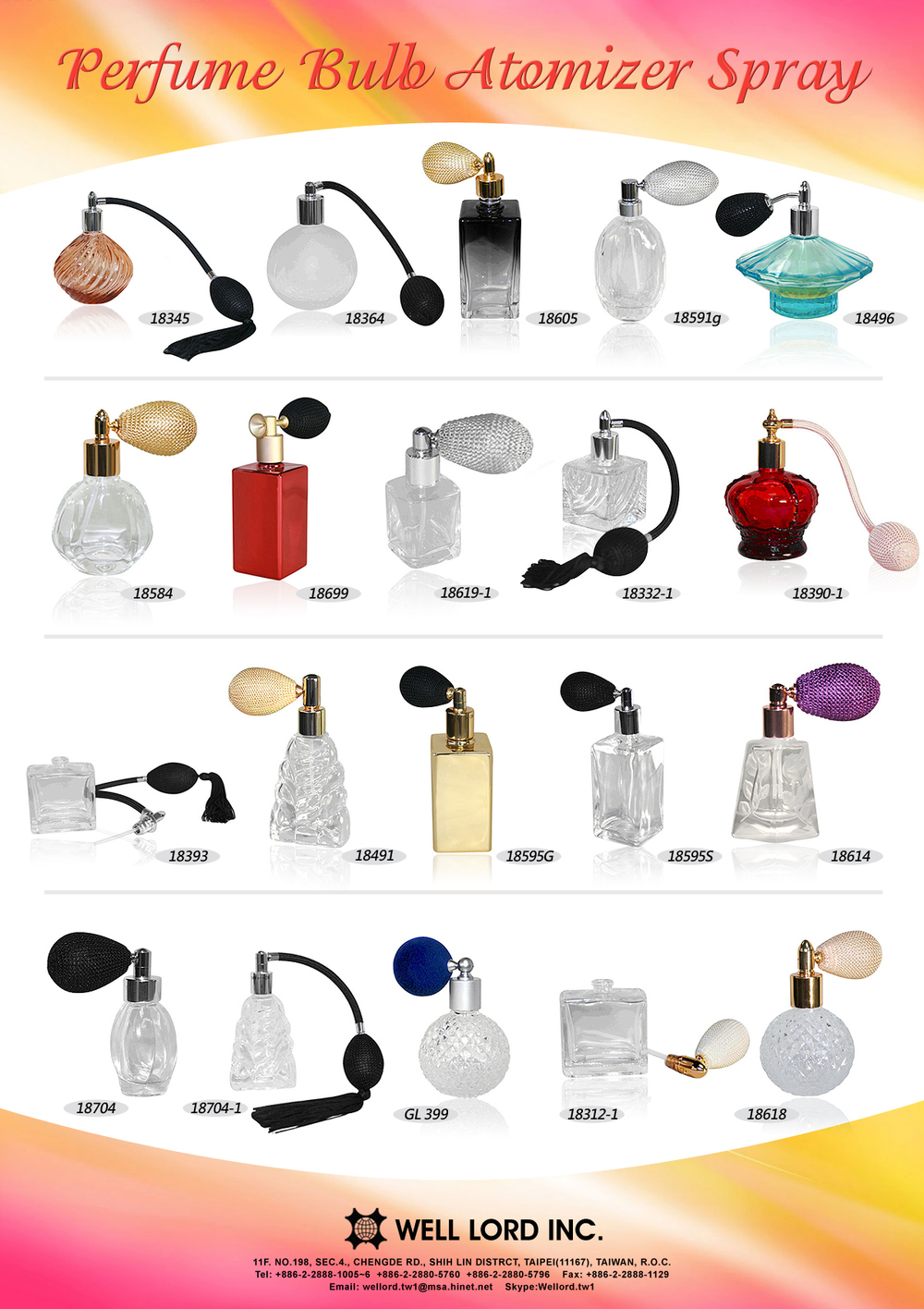 Classic custom made perfume spray glass bottle smart collection