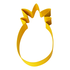 High Quality Colorful Pineapple Shape Stainless Steel Cookie Tools Cake Cutter