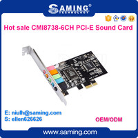 PCI-E internal Sound Card/6 channel Audio adapter with CMI8738