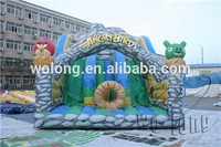 inflatable double lane slip slide, Castle Type inflatable bounce house
