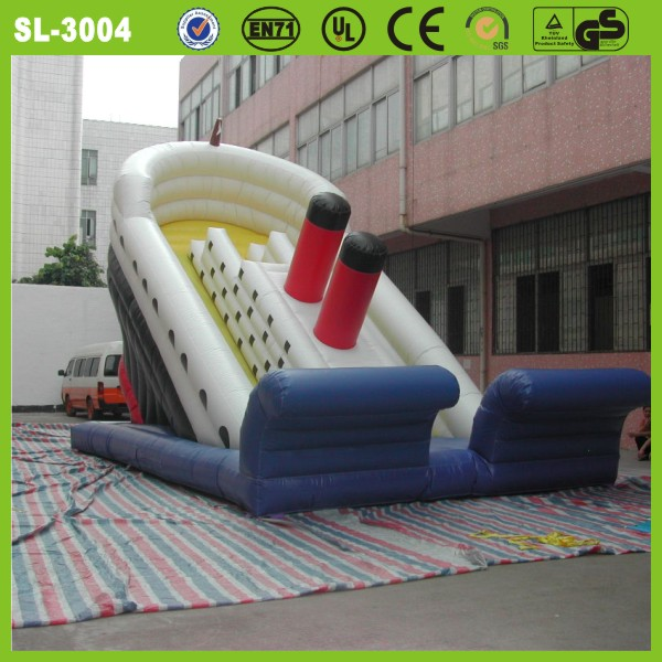 giant inflatable water slide for adult cheap inflatable wet slip and slide