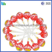Hot selling plastic stick lollipop popping candy bulk