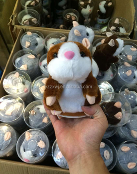 plush toys stuffed animals with sound talking stuffed hamster animals soft repeat plush hamster toys for kids