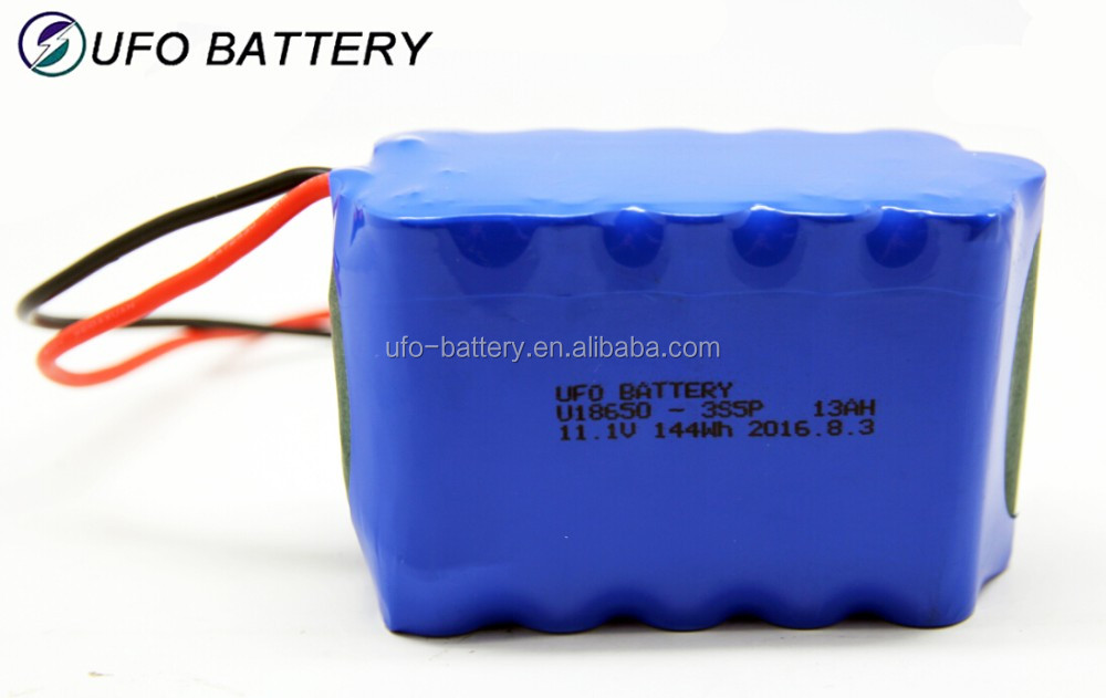 11.1v li-ion battery pack 18650-3S5P 13Ah lithium battery for numerical control products