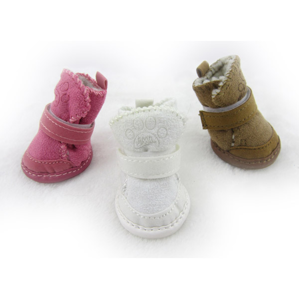 JML New Arrival Winter Dog Shoes with Rubber Sole Pet Products Snow Boots
