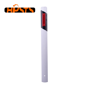 Reflective traffic roadway safety flexible delineator post
