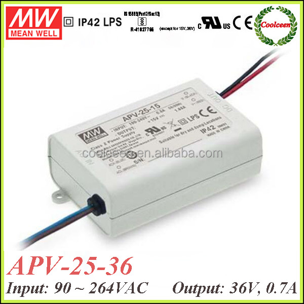 Meanwell APV-25-36 25w led power driver