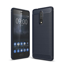 Mobile phone accessories tpu carbon fiber phone protective cover case for nokia 8